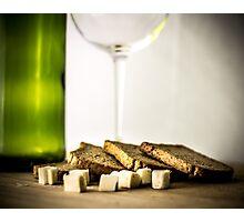 Wine and cheese Photographic Print