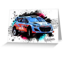 WRC - Thierry Neuville's Hyundai i20 Greeting Card