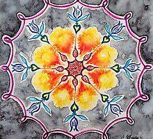Tulip Chakra Mandala by Chris Kfoury
