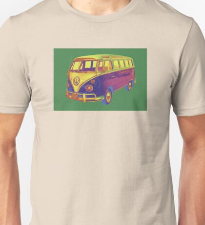 Classic VW 21 window Mini Bus Pop Art Image Unisex T-Shirt
