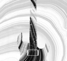 Marbled Music Art - Three Guitars - Sharon Cummings Sticker