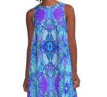 Holly Does Whimsy on Thursday in Blue A-Line Dress