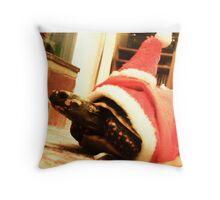 Santa tortoise  Throw Pillow