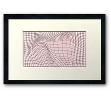 wave graph Framed Print