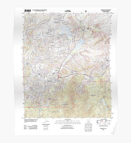 USGS TOPO Map Arizona AZ Prescott 20120521 TM Poster