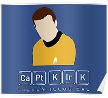 Highly Illogical Kirk Poster