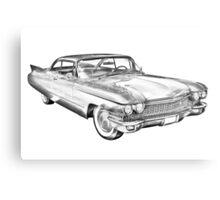 1960 Cadillac Luxury Car Illustration Metal Print