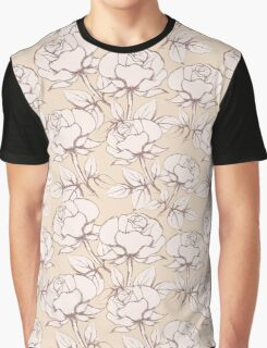 Rose Flowers Seamless Pattern in vintage style Graphic T-Shirt