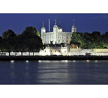 Tower of London at Night Photographic Print