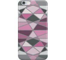 Grey and Pink Triangle Geometric Pattern iPhone Case/Skin