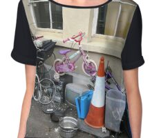 New Age House says I Couldnt See You Through My Front Window Even if I Tried. Chiffon Top