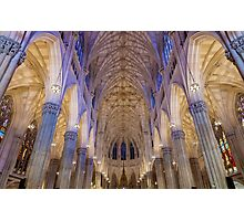 Inside St. Patrick Cathedeal Photographic Print