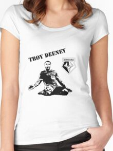 Troy Deeney - Watford Women's Fitted Scoop T-Shirt