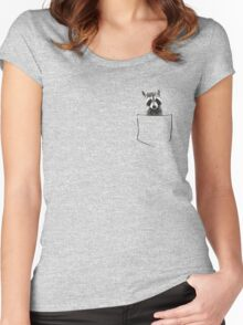 Raccoon in my pocket! Women's Fitted Scoop T-Shirt