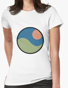 Rolling Hills Sunset Womens Fitted T-Shirt
