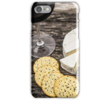 Wine and cheese iPhone Case/Skin