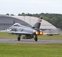 RAF Typhoon Farnborough Airshow by Keith Larby