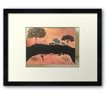 Mirror safari Framed Print