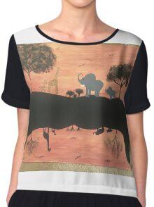 Mirror safari Chiffon Top