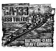 Heavy cruiser Toledo Photographic Print