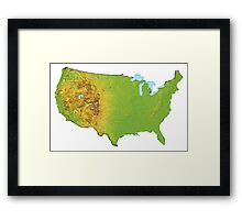 Physical United States of America Framed Print