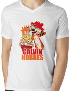Calvin and Hobbes Time Mens V-Neck T-Shirt