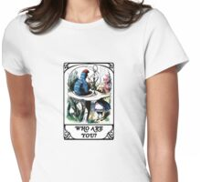 Alice's Adventures In Wonderland - Who Are You Womens Fitted T-Shirt