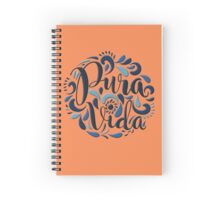 Pura vida relieve blue Spiral Notebook