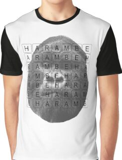 Harambe Memorial Graphic T-Shirt