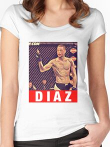 UFC 202 Diaz RED Women's Fitted Scoop T-Shirt