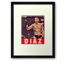 UFC 202 Diaz RED Framed Print