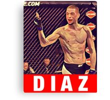 UFC 202 Diaz RED Canvas Print