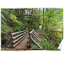 Wood Bridge Over Butte Creek Poster