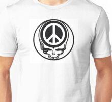Peace Sign skull Unisex T-Shirt