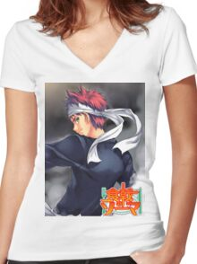 SOMA - Food Wars Women's Fitted V-Neck T-Shirt