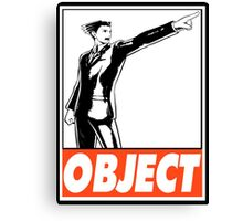 Phoenix Wright Object Obey Design Canvas Print