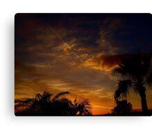 February Sunset Canvas Print