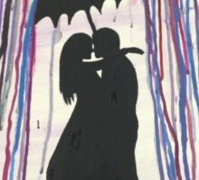 Rainy Day Couple Sticker