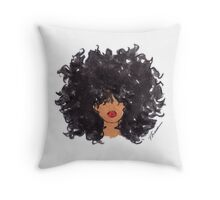 How To Be Curly Throw Pillow