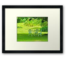 Wine In The Park Framed Print