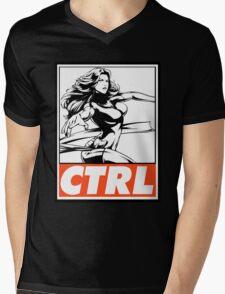 Phoenix Control Obey Design Mens V-Neck T-Shirt