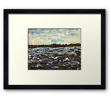 View From The Boat Framed Print