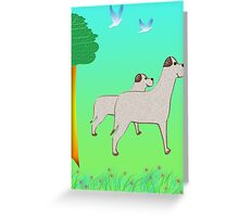 Mommy dog and Sonny Greeting Card