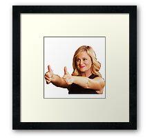 Leslie Knope -Thumb's Up Framed Print