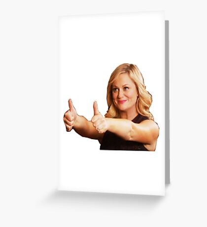 Leslie Knope -Thumb's Up Greeting Card