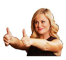 Leslie Knope -Thumb's Up Photographic Print