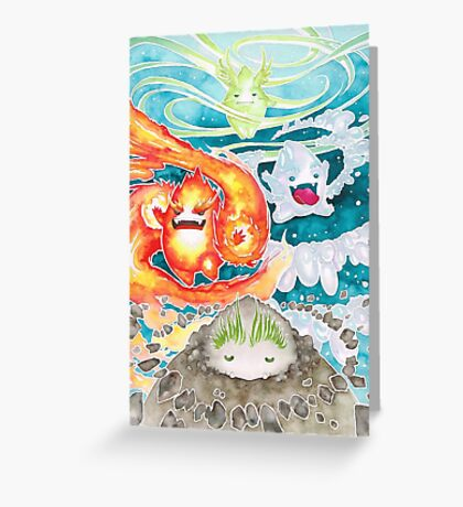 ˹Four Elements˼ Greeting Card