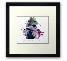 cockles rainbow Framed Print