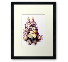 White Rabbit Framed Print