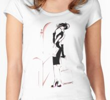 Waiting for a Train Women's Fitted Scoop T-Shirt